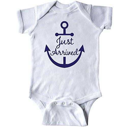 inktastic - Nautical Anchor Infant Creeper Newborn White -