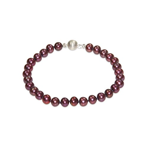 Blue Pearls - Red Cranberry Freshwater Pearl Bracelet and 925 Silver Clasp - BPS 0032 L BPS 0032 L