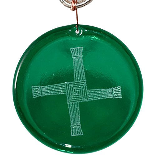 4-Inch Etched Saint Brigids Cross Suncatcher In Green from our Irish And Celtic Collection - Made In the USA. A Great Gift For Anyone. Colorful Suncatchers Bring a Room or View To Life.