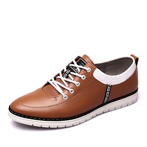 Hommes D'homme D'homme D'affaires Simple En Souliers Cuir Souliers yellow Simple GRRONG Vêtements wnvxA8qC