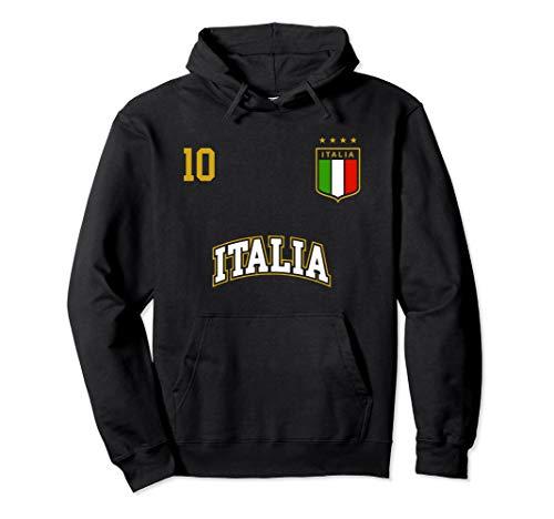 Italy Soccer Team Hoodie Number 10 Sports Italian Flag Shirt