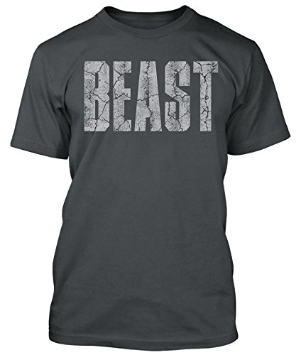 New Generation Apparel Beast Shirt Gym Workout Wear Weightlifting (L, Charcoal Gray) by New Generation Apparel
