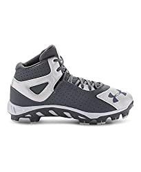 Under Armour Boys UA SpineTM Heater Mid ST Baseball Cleats 3 Baseball Gray