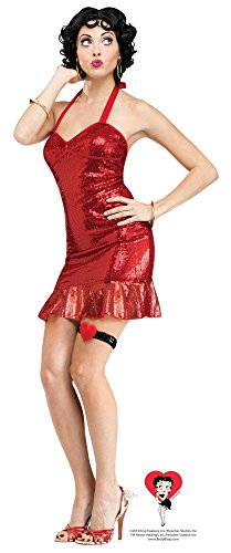 Fun World Costumes Women's Betty Boop (Classic) Adult Costume, Red, Small (Betty Boop Wig)
