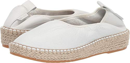 Cole Haan Women's Cloudfeel Espadrille Loafers Chalk Leather/Natural Jute 9.5 B US