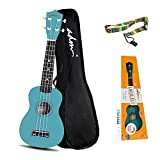 ADM Soprano Ukulele for Kids Beginners 21 Inch with Uke Starter Pack Kit, Gig Bag and Strap, Green