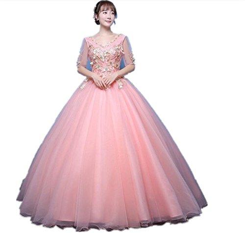 Sera Da Vestito Pink Abito Jkjhah Palla Light Femmina Femminile Ballo q47at1w
