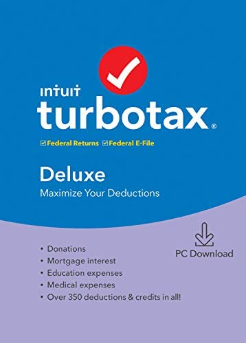 TurboTax Deluxe 2019 Tax Software [Amazon Exclusive] [PC Download]