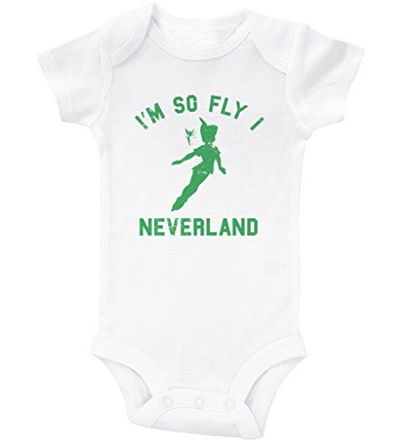 Neverland Onesie, I'm So Fly I Neverland, Newborn Outfits, Tinker Bell Baby Bodysuit, Neverland Baby Bodysuit