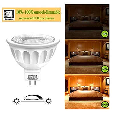 Torkase MR16 Dimmable Non Dimmable Light Bulbs