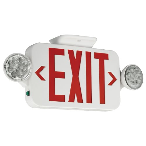Compass CCR Emergency Light and Exit, 18 in x 2 in x 8.2 in in, White