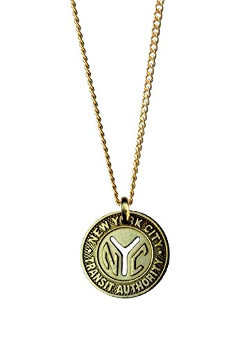Worn History Mens Authentic NYC Small Y (1953-1970) Subway Token Necklace (22 inches) -