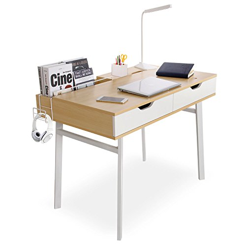 "Lifewit 40""x23"" Computer Desk PC Laptop Desk, Large Study Table, Modern Simple Writing Table for Home / Office / Workstation, Burlywood Color by Lifewit"