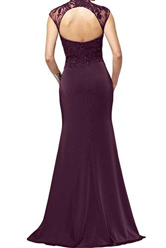 Mutterkleider Hochkragen Meerjungfrau Lang Ivydressing Paillette Abendkleider Neu Elegant Spitze Royalblau Ow66WqZ8