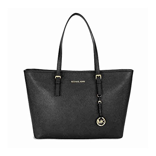 MICHAEL Michael Kors Women's Jet Set Travel Medium Multifunction Tote, Black by MICHAEL Michael Kors