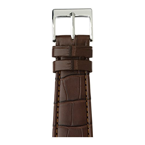Roobaya | Premium Alligator Leather Apple Watch Band in Dark Brown | Includes Adapters matching the Color of the Apple Watch, Case Color:Stainless Steel, Size:42 mm by Roobaya