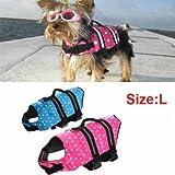 Swimming Waterproof Float Safe Pet Dog Vest Life Jacket Swimwear Size L