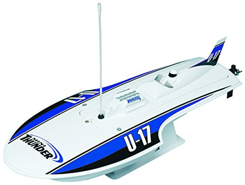 Aquacraft Models RTR Remote Control RC Boat: Mini Thunder High Speed Electric Hydroplane with 2.4GHz Radio, Servo, 2 in 1 Receiver / ESC,  Motor, 7.2V 1100mAh NiMH Battery, and Charger (Fiberglass Rc Boats)