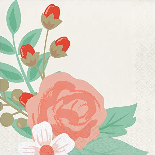 Modern Floral Napkins, 48 ct -