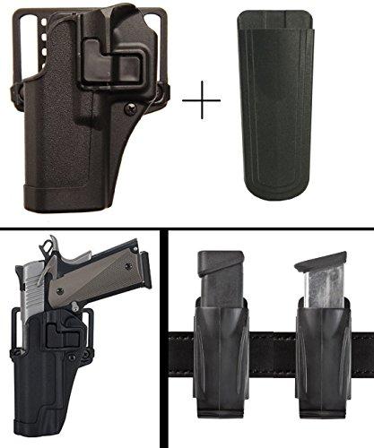 Speed Clip Beretta Cqc Platform (BlackHawk Beretta 92, 96 Left Hand CQC Serpa Concealment Holster + Ultimate Arms Gear 9mm/.40/.45 Magazine Belt Clip Pouch Holder,)