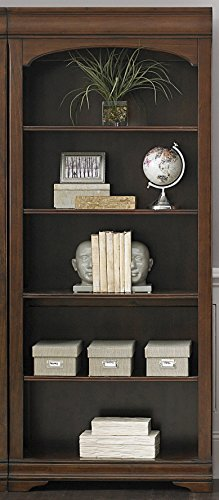 Cherry Antique Bookcase Cabinet - Liberty Furniture 901-HO201 Chateau Valley Home Office Bunching Bookcase, 32