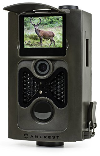 "Amcrest ATC-801 720P HD Game and Trail Hunting Camera - 8MP Dynamic Capture, Integrated 2"" LCD Screen, High-Sensitivity Motion Detection with Long Range Infrared LED Night Vision up to 65ft"