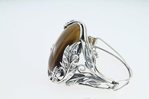 Bracelet en Oeil de tigre PU BR276 - Bijoux en argent et Oeil de tigre - Diverses pierres possible - ARTIPOL