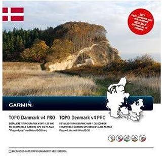 Garmin Topo Danemark V4Pro Carte topographique vectorielle, noir, uni GGGM5|#Garmin 010-11836-02