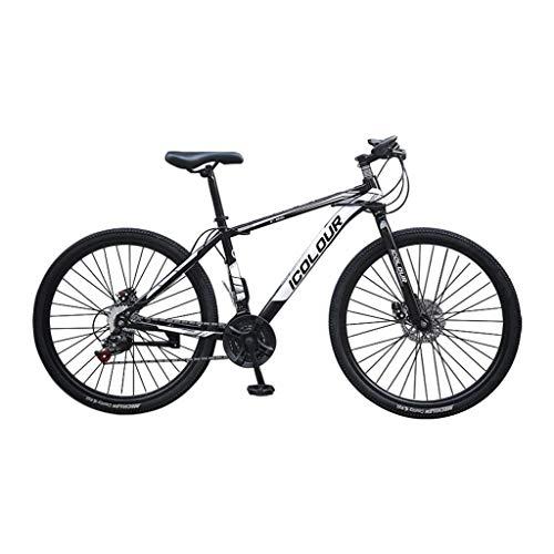 GOKOMO Mountain Bike Adult 26 Inch Carbon Steel 24 Speed Bicycle Road Bikes (Black, One Size)