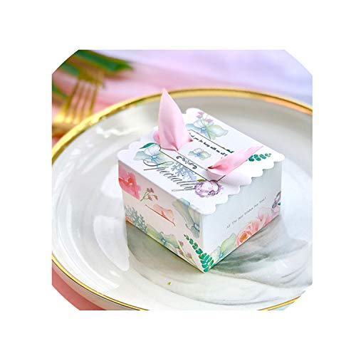 50Pcs/Lot Unicorn Paper Candy Box Square Marble Candy Boxes for Unicorn Party Baby Shower Birthday Gift Box with Wedding Favor,B,65X65X45Mm - Miss Sixty Jewellery