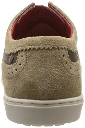 Base London Anglo, Men Hi-Top Sneakers Beige (Suede Taupe/Brown)