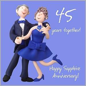 45th Wedding Anniversary Card Amazon Co Uk Kitchen Amp Home