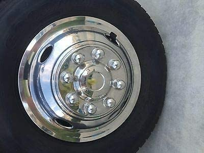 beico Front Wheel Simulator 16 E350 E450 F350 ONLY 16 8 Lug 4 Hole Stainless Steel HUBCAP