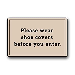 """Amazon.com: Custom """"Please Wear Shoes Covers Before You ..."""