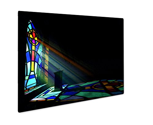 Ashley Giclee Metal Panel Print, Stained Glass Window Church, 16x20 by Ashley Giclee