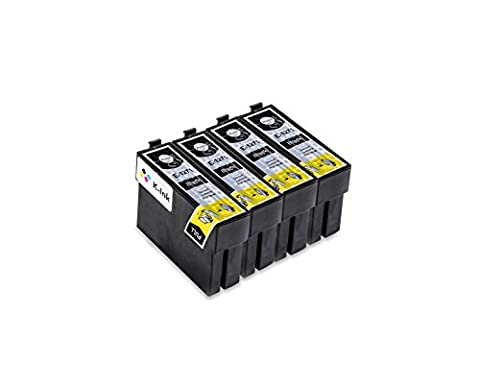 K-Ink Epson 127 Black Ink Extra High Yield Remanufactured Cartridges (4 Large Black) (Epson Wf 520 Black)
