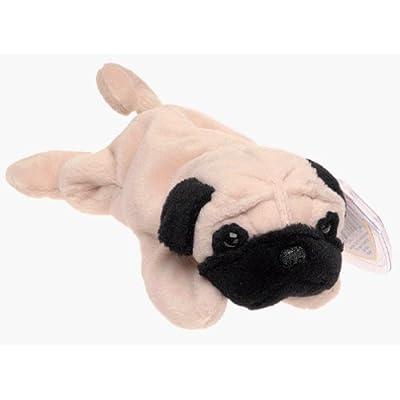 TY Beanie Babies - Pugsly the Pug Dog by TY Beanie Babies - Pugsly the Pug Dog: Toys & Games