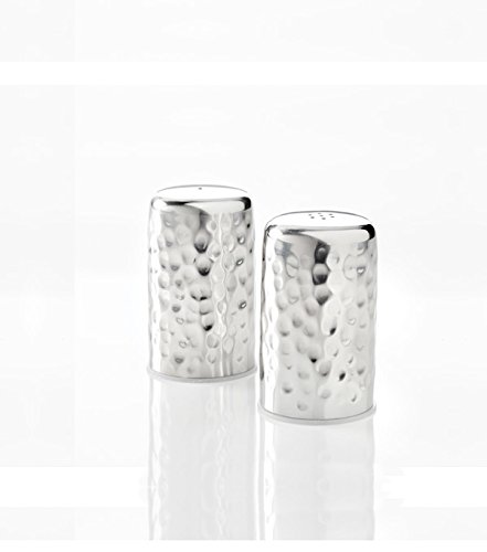 - American Metalcraft HMSP2 Stainless Steel Salt and Pepper Shakers, Hammered Design, 2-Ounces