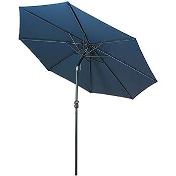 Balichun 9 Ft Outdoor Table Aluminum Patio Umbrella Market Umbrella With  Push Button Tilt And Crank
