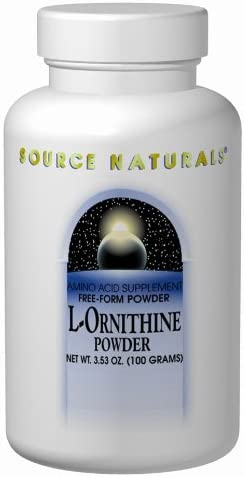 Source Naturals L-Ornithine Free Form Amino Acid Powder Supplement For Muscle Support – 100 Grams