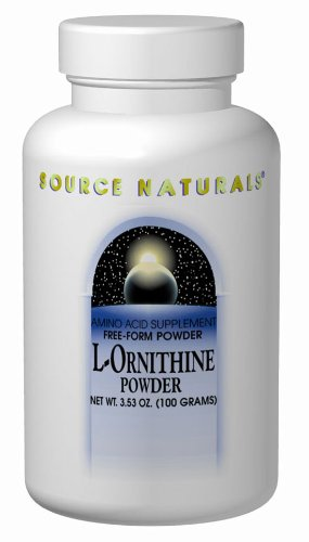 L-ornithine 100 Capsules (Source Naturals L-Ornithine, 667mg, 100 Capsules)