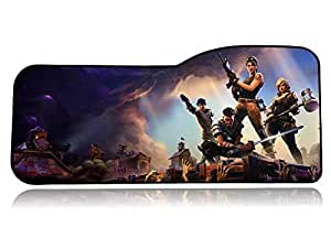 """Fortnite Extended Size Custom Professional Gaming Mouse Pad - Anti Slip Rubber Base - Stitched Edges - Large Desk Mat - 28.5"""" x 12.75"""" x 0.12"""" (Fortnite)"""