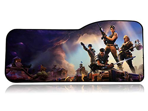 Qck Cloth - Fortnite Extended Size Custom Professional Gaming Mouse Pad - Anti Slip Rubber Base - Stitched Edges - Large Desk Mat - 28.5