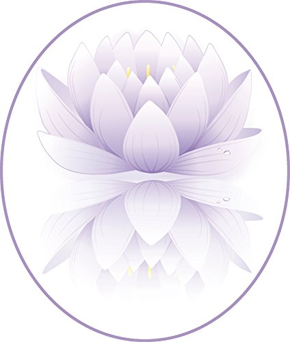 Pretty Purple Ombre Lotus Flower Drawing Icon Vinyl Decal Sticker (12