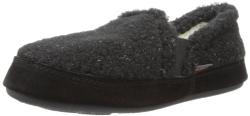 Acorn Kid's Colby Gore Moc Slipper(Infant-Toddler-Little Kid-Big Kid),Black Berber,1-2 M US Little Kid ()