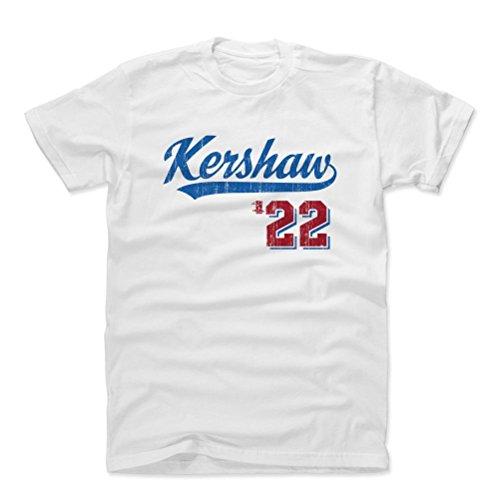 Dodgers Fan - 500 LEVEL's Clayton Kershaw Cotton Shirt Small White - Los Angeles Dodgers Fan Apparel - Clayton Kershaw Script B
