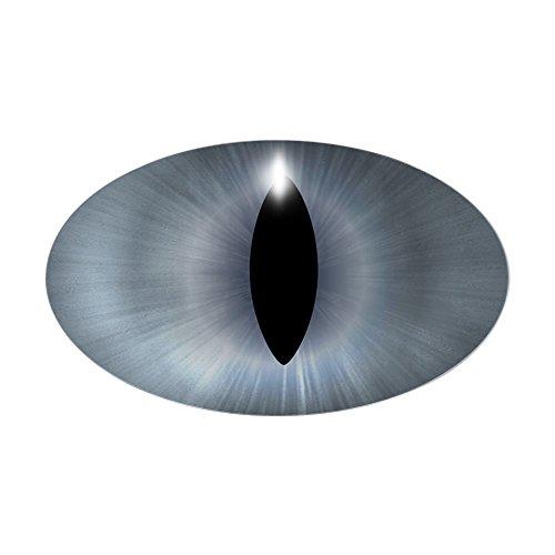 CafePress Cat's Eye Gray Halloween Oval Sticker Oval