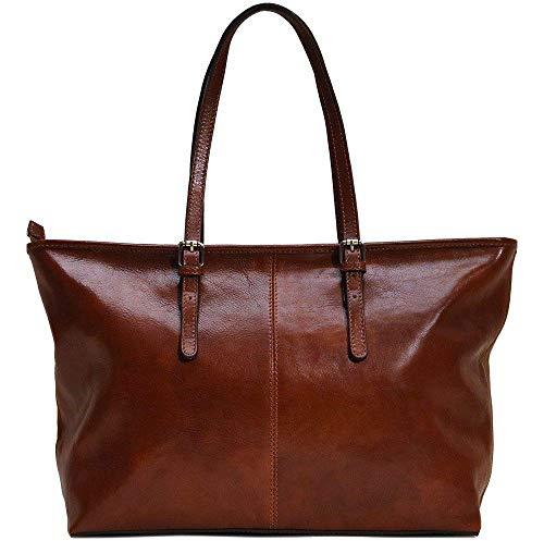 Floto Leather Bag Shopping Tote Shoulder Bag Handbag Women's -