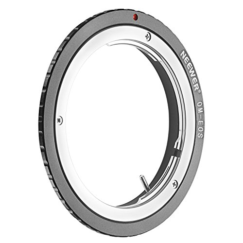 Neewer® Lens Mount Adapter for Olympus OM Zuiko Lens to Canon EOS EF Camera Body, Fits Canon EOS 1D 1DS Mark II III IV 5D Mark II 7D 40D 50D 60D 70D 550D 600D 650D 700D 100D 1100D by Neewer