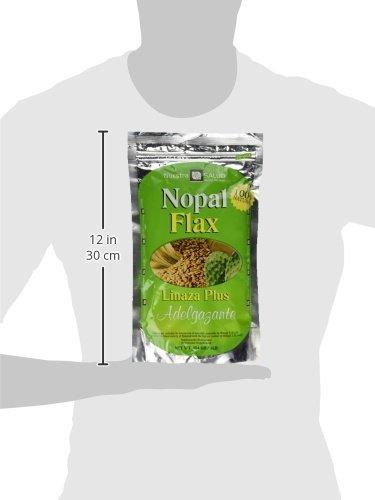 Nopal Flax Linaza Plus Adelgazante454 GR/1LB by Nuestra Salud (Image #5)